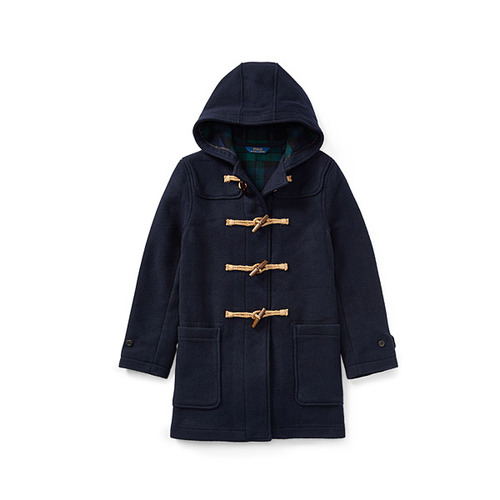 Wool-Blend Toggle Coat